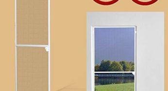 1PLUS Insektenschutz Alu Spannrahmen System premium f/ür T/üren in verschiedenen Gr/ö/ßen und Farben verf/ügbar 120 x 240 cm, Wei/ß